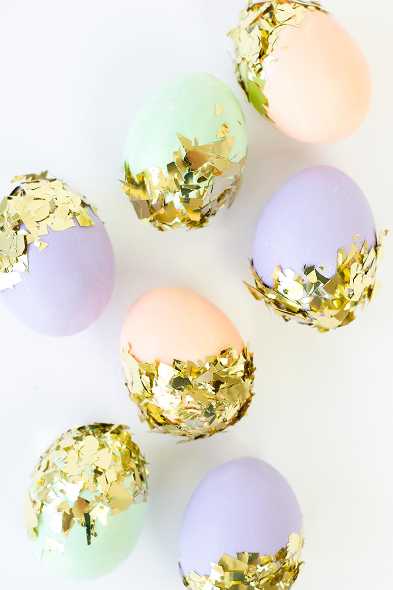 5 easter egg diys spoonflower blog design sell your own diy confetti dipped easter eggs negle Images
