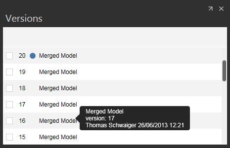 Model versions in BIM 360 Glue