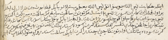 Statement at the beginning of the manuscript by the artist, naming the owner as Cik Candra. British Library, MSS Malay D.4, f. 2v (detail).