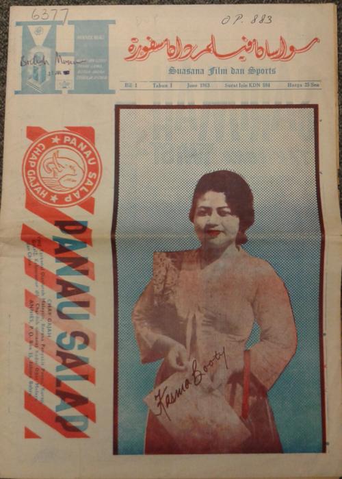 The inaugural issues of Suasana film dan sports (Singapore, 1963). British Library, Or.Mic.12061