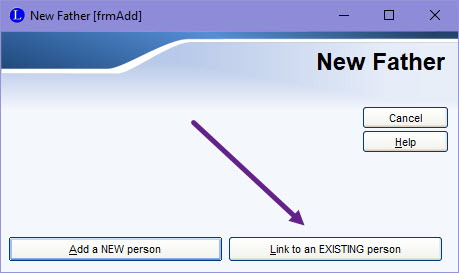 Link to existing person