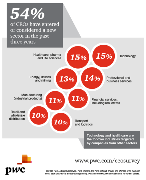 PwC Global CEO Survey - entering new sector