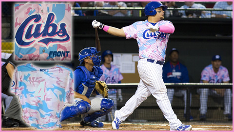 Dayton Cubs breast cancer jersey uction