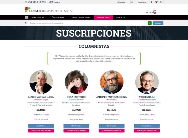 Columnistas - Suscripciones