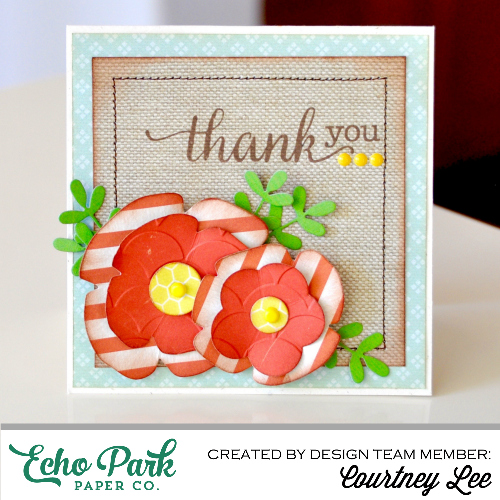 """Thank You Card by Courtney Lee with the """"Homegrown"""" collection by #echoparkpaper"""