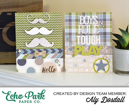 My Little Boy Card Set by Aly Dosdall for #echoparkpaper