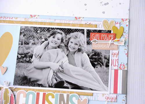Girl Cousins Layout by Jana Eubank for #EchoParkPaper