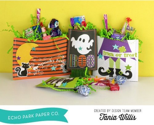 Halloween Treat Pockets by Tania Willis for #EchoParkPaper