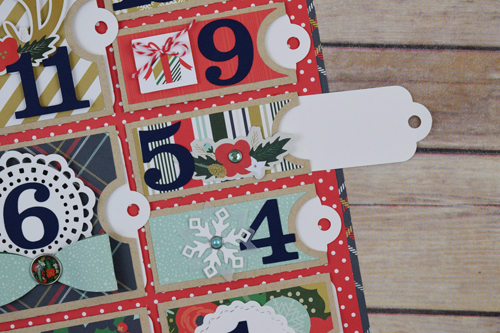 "Christmas Countdown Calendar by Becki Adams with the ""Deck the Halls"" collection and designer dies by #EchoParkPaper"