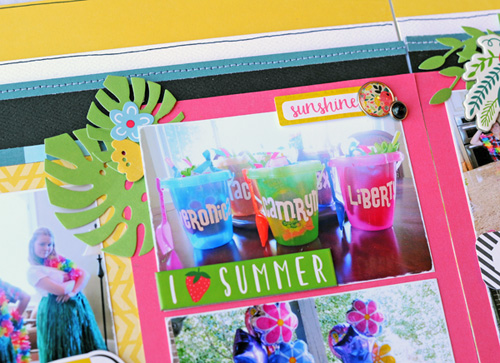 "Happy Birthday 2-page Layout by Jana Eubank with the ""Summer Fun"" collection by #EchoParkPaper"