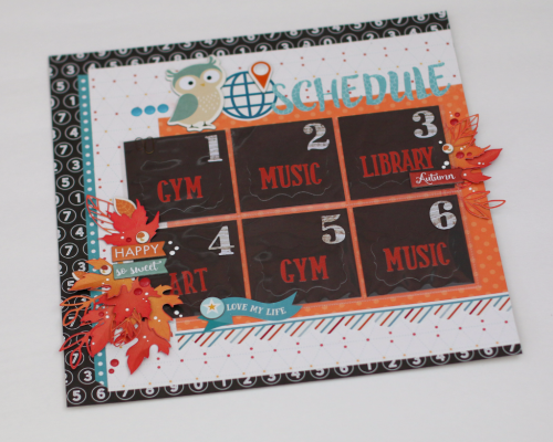 Back to School Schedule by Anya Lunchenko for #EchoParkPaper and #CartaBellaPaper