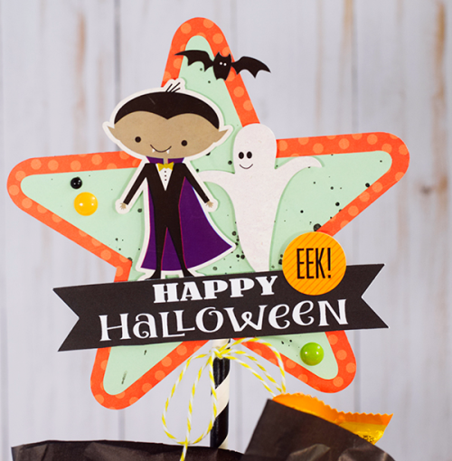 Halloween treat bags by Tya Smith for #EchoParkPaper and #CartaBellaPaper