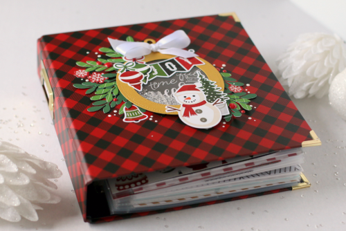 Red Buffalo Plaid December Daily Album by Anya Lunchenko for #EchoParkPaper