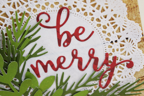 Christmas Card Inspiration Week: Be Merry Card by Becki Adams for #EchoParkPaper and #CartaBellaPaper