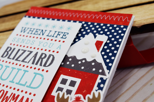 "Blizzard Card by Becki Adams for #EchoParkPaper with the ""A Perfect Winter"" Collection"