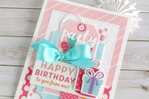 "Happy Birthday to You from Me card by Anya Lunchenko featuring the ""Happy Birthday Girl"" collection from #EchoParkPaper"