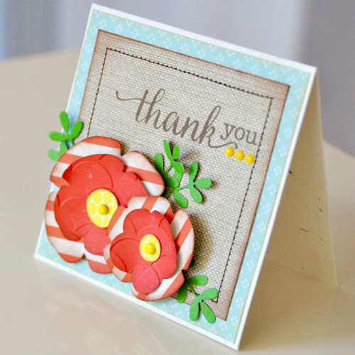 "Thank You Card by Courtney Lee with the ""Homegrown"" collection by #echoparkpaper"