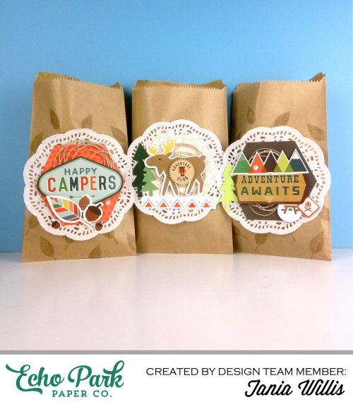 "Camping Treat Bags by Tania Willis with ""The Wild Life"" Collection, Designer Dies, and Designer Stamps from #EchoParkPaper"