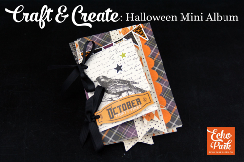 "Halloween Mini Album Video Tutorial featuring the ""Hocus Pocus"" collection by #EchoParkPaper"