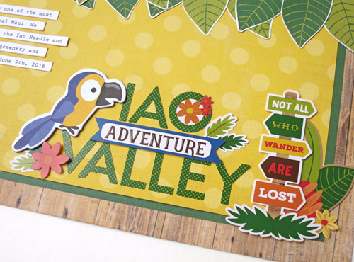 """Scrapbook layout by Jana Eubank with the """"Jungle Safari"""" collection by #EchoParkPaper"""