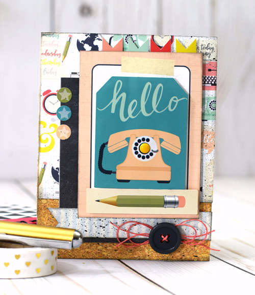 "Create this sweet ""hello"" card by Tya Smith with the ""Everyday Memories"" Mini Theme Collection by #EchoParkPaper"