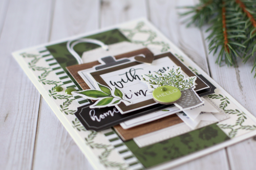 """Hello card by Anya Lunchenko with the """"Welcome Home"""" collection by #CartaBellaPaper"""