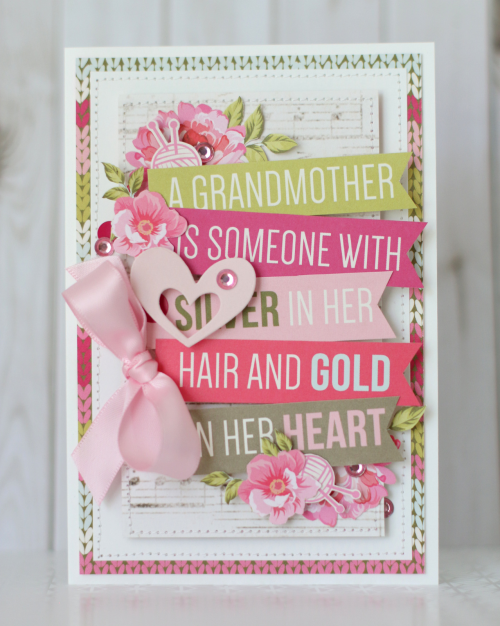 "Grandma cards by Anya Lunchenko with the ""Grandma"" Mini Theme Collection and Designer Dies by #EchoParkPaper"
