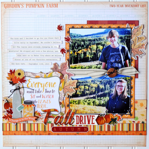 """Autumn"" layout - free project download by Jana Eubank for #CartaBellaPaper"