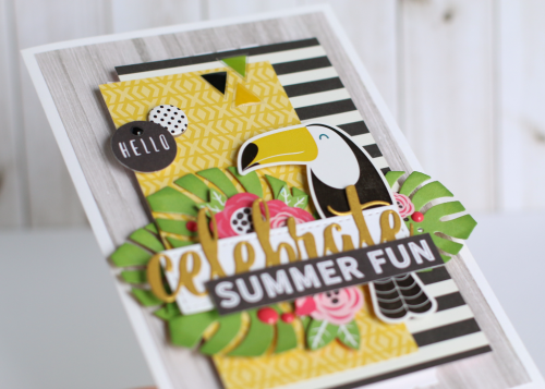 "Celebrate Summer card by Anya Lunchenko created with the ""Summer Fun"" collection and designer dies by #EchoParkPaper"