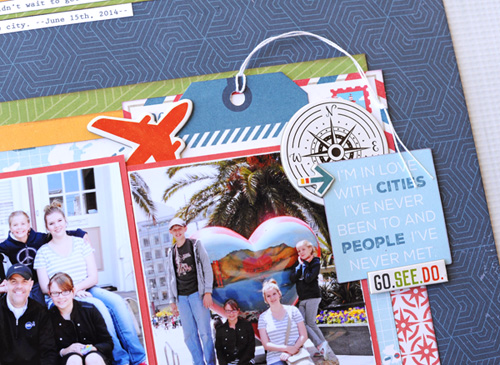 """Exploring New Cities"" layout by Jana Eubank for #EchoParkPaper with the ""Go. See. Explore."" collection"