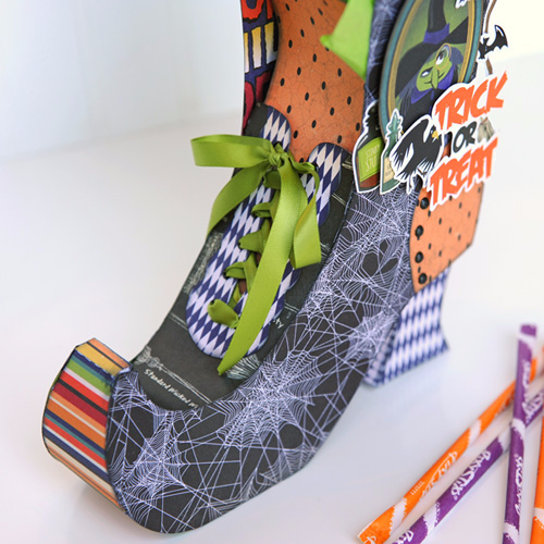 "Wicked and Witchy Gift Box by Jana Eubank with the ""Haunted House"" collection by #CartaBellaPaper"
