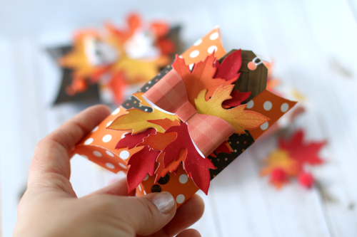 "A Week of Autumn Treats Pillow Boxes with ""A Perfect Autumn"" collection by Anya Lunchenko for #EchoParkPaper"