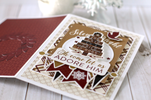 """""""Oh Come Let Us Adore Him"""" Christmas card by Anya Lunchenko with the """"Wise Men Still Seek Him"""" collection from #EchoParkPaper"""