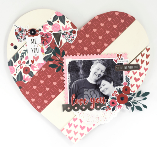 """Pallet heart home decor by Tya Smith with the """"Hello Sweetheart"""" collection from #CartaBellaPaper"""