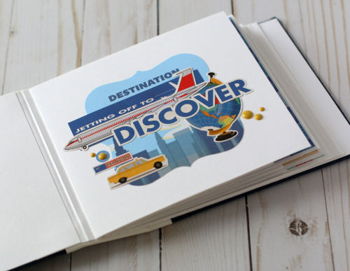 """Travel Mini Album by Anya Lunchenko featuring the """"Passport"""" collection by #CartaBellaPaper"""