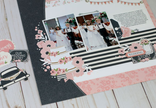 """Mr. & Mrs."" Layout by Anya Lunchenko featuring the ""Just Married"" collection by #EchoParkPaper"