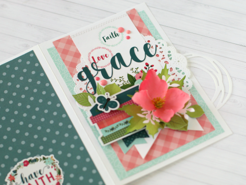 "Faith, Love and Grace card by Anya Lunchenko featuring the ""Have Faith"" collection by #EchoParkPaper"