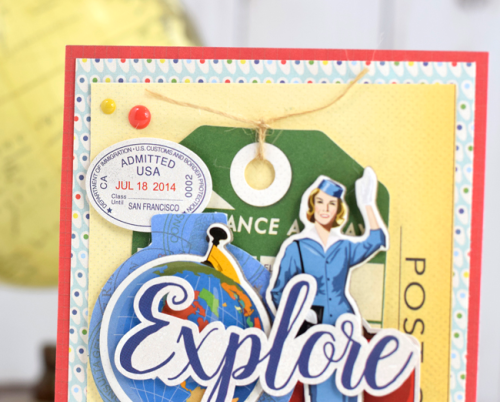 "Explore Card by Tya Smith featuring the ""Passport"" collection by #CartaBellaPaper"