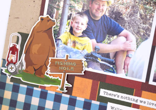 """Gone Camping"" layout by Tya Smith for #CartaBellaPaper"