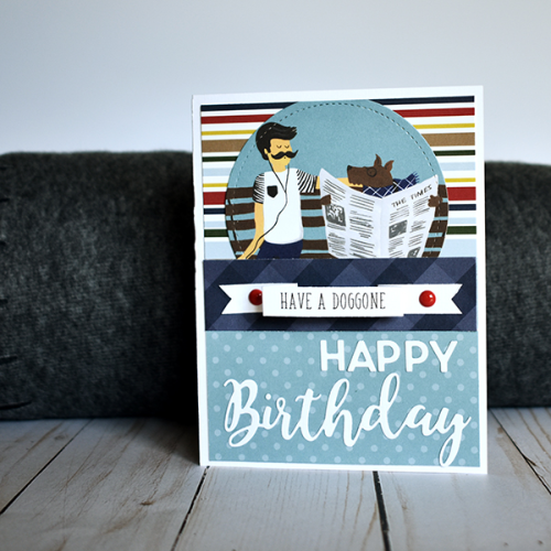 """Have a Doggone Happy Birthday"" Masculine Birthday Cards by Wendy Sue Anderson with the ""A Dog's Tail"" Collection by #EchoParkPaper"