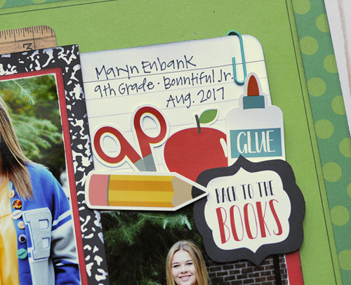 """Back to School"" layout by Jana Eubank for #EchoParkPaper"