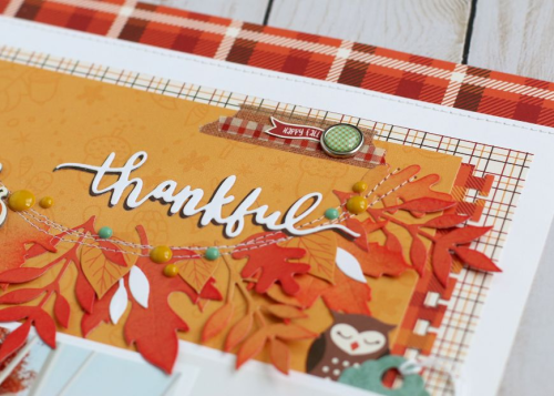 "Thankful Layout by Anya Lunchenko featuring the ""Celebrate Autumn"" collection by #EchoParkPaper"