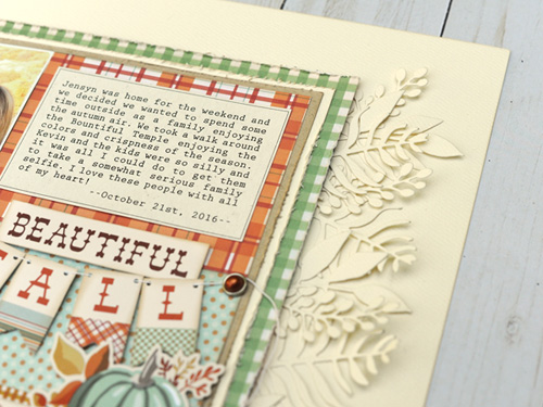 "Beautiful Fall layout by Jana Eubank featuring the ""Fall Break"" collection by #CartaBellaPaper"