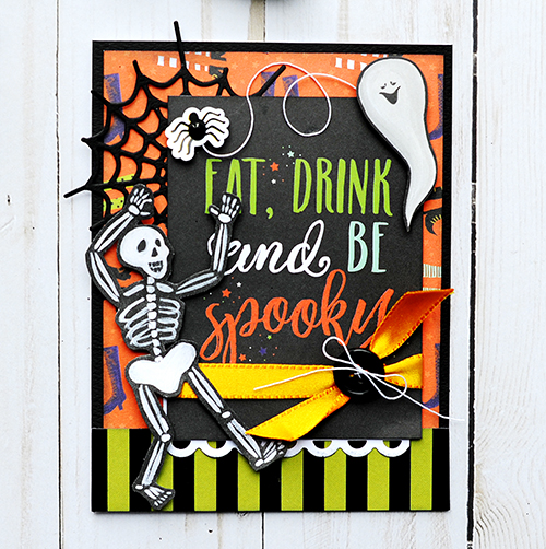 Eat, Drink, and be Spooky FREE DOWNLOADABLE PDF Instructions from #CartaBellaPaper!!