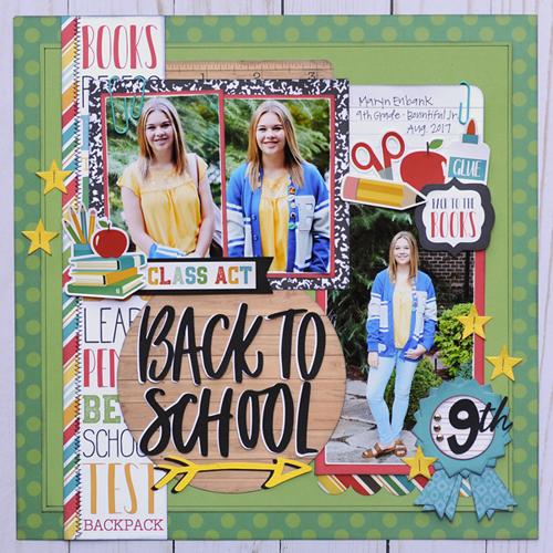 black Echo Park Paper Company School Rules 6x6 Pad paper blue orange green yellow red