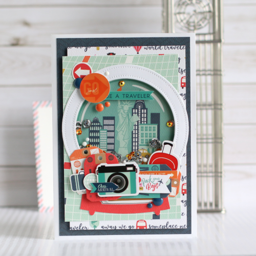"4Shaker card by Anya Lunchenko with the ""Pack Your Bags"" Collection by #CartaBellaPaper"