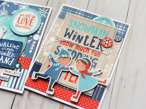 "Winter card trio by Jana Eubank featuring the ""Celebrate Winter"" collection by #EchoParkPaper"