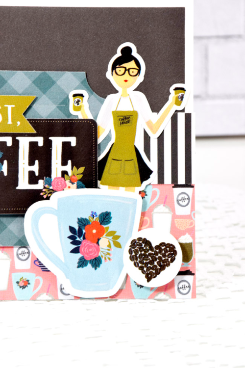 """But first, Coffee"" card by Tya Smith with the ""Coffee"" Collection by #EchoParkPaper"