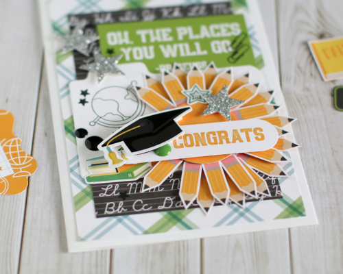 """Back to School"" Graduation card by Anya Lunchenko for #EchoParkPaper"