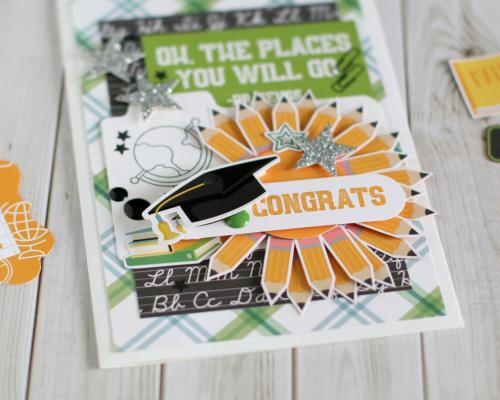 """Back to School"" Graduation card by Anya Lunchenko for #EchoParkPaper"